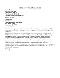 Job Application Letter For Teaching In University How To Write A Cover  Letter For A Job