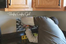 Thrifty Crafty Girl Easy Kitchen Backsplash With Smart Tiles - Peel on backsplash
