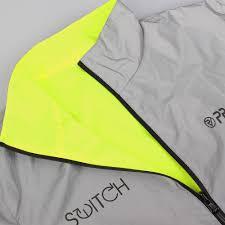 fluorescent bike jacket switch men u0027s cycling jacket yellow reflective reversible