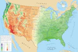 Unite States Map by Average Precipitation In The Lower 48 States Of The United States