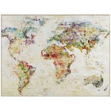 World Map Canvas by World Map Wall Decor Pier 1 Imports