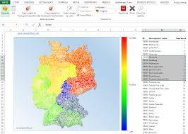 Excel Heat Map De Germany Postal Code Map 5 Digits