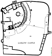 Castle Floor Plan by Plan Of Ludlow Castle