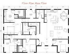 Home Floor Plan Layout Barndominium Floor Plan 50x50 Barndominium Plans Pinterest