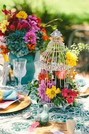 Rainbow Wedding Centerpieces by Colourful Spring Wedding Style Styled By Chanele Rose Flowers
