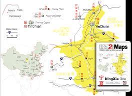 Map Of China Provinces Ningxia Guide And Map Of Ningxia Province China