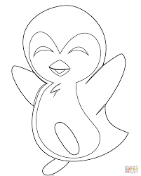penguin coloring pages cute baby penguin coloring page free