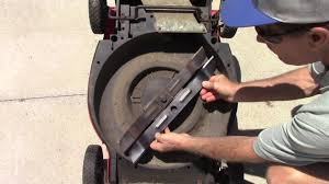 how to replace a black and decker electric lawn mower blade youtube