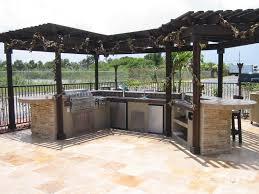 Diy Outdoor Kitchen Ideas Outdoor Kitchens Custom Built Outdoor Kitchen With Wood Gazebo