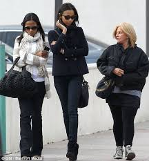 Zoe Saldana enjoys a girls      day out with Bradley Cooper     s mother     Daily Mail
