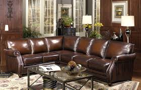 decor brown leather sectional sofa with brown cushion seat by