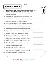 Questioning Adverbs   Free  Printable Adverb Worksheets K  Reader