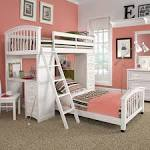 Lovely White Ikea Bunk Beds On Pink Bedroom Ideas For Girls Teen ...