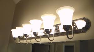 how to replace bathroom lighting youtube