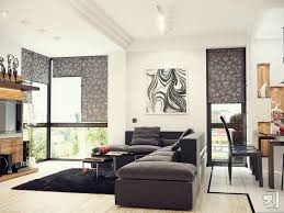 Living Room Design Ideas With Grey Sofa White Wall Paint In Modern Home Living Room Decorating With Black