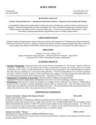 Summary Sample Resume by Business Analyst System Analyst Resume Samples Crm Business