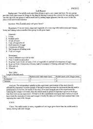 Writing an abstract for a lab report studylib net     Example of a Good Lab Report Introduction