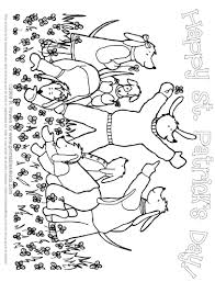 st patricks day field of lucky clovers coloring page printables