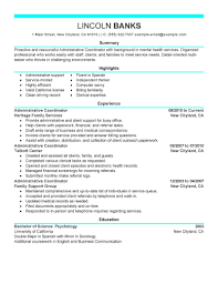 Construction Project Coordinator Resume Sample by Best Social Services Administrative Coordinator Resume Example