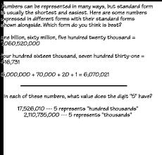 Numbers   Place Value   Examples Homework Help   Pre Algebra   Numbers
