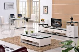 Living Room Furniture Tv Cabinet Grade Stainless Steel Paint Glass Coffee Table Tv Cabinet Fashion