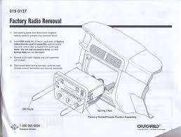2000 2003 radio install taurus sable encyclopedia
