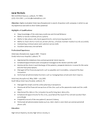 Sample Of Receptionist Resume by Free Veterinary Receptionist Resume Template Sample Ms Word