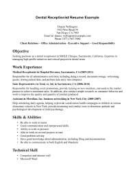 perfect example of a resume fascinating sample resume for receptionist 10 receptionist resume opulent design sample resume for receptionist 8 examples of resumes medical