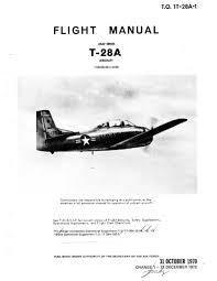 north american t 28 trojan flight manuals