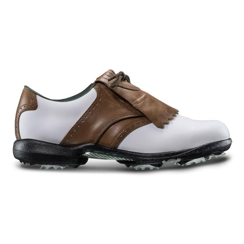 FootJoy DryJoys Tour Golf Shoes White Leather / Khaki (99015),