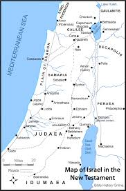 Jordan Country Map Map Of Israel In The Time Of Jesus Christ With Roads Bible