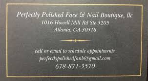 perfectly polished face and nail boutique on schedulicity