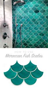 how to use moroccan fish scales for your bath or shower wall
