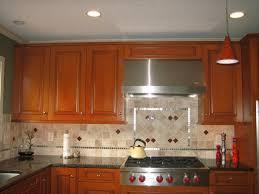 Kitchen Backsplash Cherry Cabinets by Charming Kitchen Backsplash Design Light Brown Cream Stone Tile