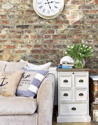 Fake Exposed Brick Wall Country Living Room With Exposed Brick Wall Home Pinterest
