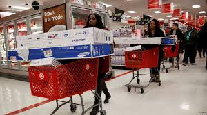 black friday in target 2016 bargain hunters flood stores for u0027black friday u0027 shopping tradition