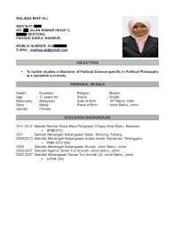 Job Resume Sample Malaysia by Contoh Cover Letter Bahasa Melayu Download