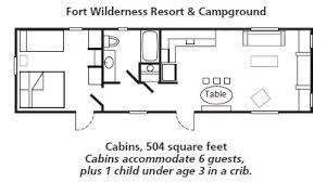 Disney Magic Floor Plan Disney U0027s Fort Wilderness Resort Cabins