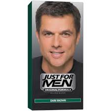 just for men shampoo in hair color dark brown 1 application pack