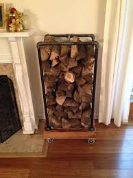 Rolling Wood Storage Rack Plans by Best 25 Industrial Firewood Racks Ideas On Pinterest Firewood