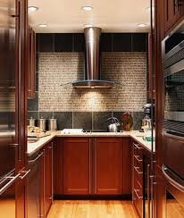 Kitchen Cabinets Mahogany Kitchen Room Design Modern Kitchen For Narrow Space Displaying