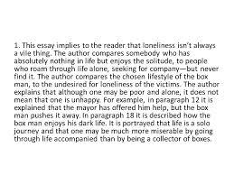 loneliness essay   quot