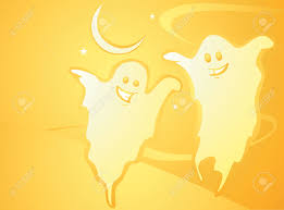 softly orange colored desktop background halloween themed with