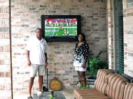 How Much To Wall Mount A Tv Outdoor Tv At Half The Price With An Outdoor Tv Enclosure