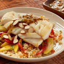 moroccan style cod with mango carrot slaw dairy free