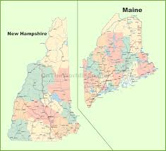 Google Map Usa by Map Of New Hampshire And Maine