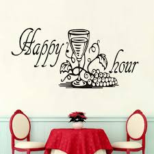 online get cheap wall sticker happy hour aliexpress com alibaba new design funny kitchen furniture sticker happy hour grape wine glass decals dining room kitchen decorative wall stickers