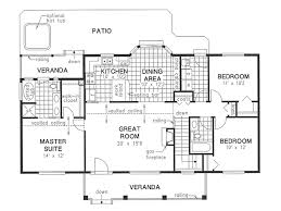 Small 3 Bedroom House Floor Plans by Country Style House Plan 3 Beds 2 Baths 1412 Sq Ft Plan 18 1036