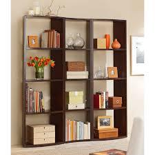 furniture splendid bookshelf room divider with beige paint walls