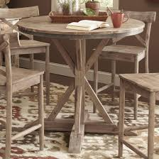 Patio Furniture Counter Height Table Sets - largo callista rustic casual round counter height pedestal table